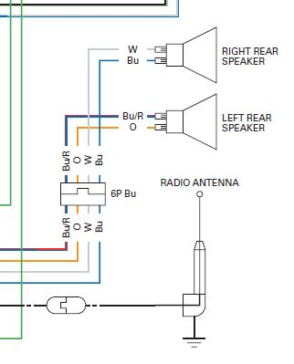audio system wiring schematic diagram gl1800riders